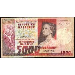 Madagascar 5.000 Francos / 1.000 Ariary PK 66 (1.974) MBC-