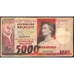 Madagascar 5.000 Francos / 1.000 Ariary PK 66 (1.974) BC+