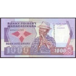Madagascar 1.000 Francos / 250 Ariary PK 72 (1.988-93) S/C