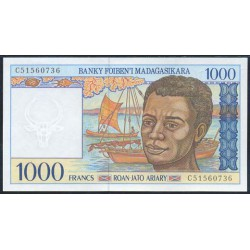 Madagascar 1.000 Francos / 200 Ariary PK 76 (1.994) S/C