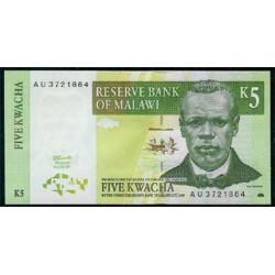 Malawi 5 Kwachas PK 36 (1997) S/C