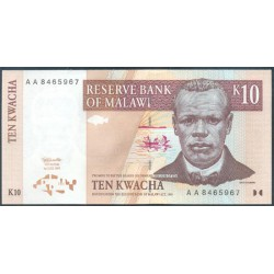 Malawi 10 Kwachas PK 37 (1.997) S/C