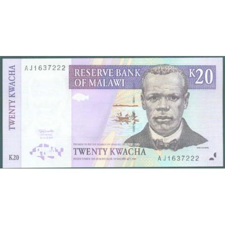 Malawi 20 Kwachas PK 38 (1-7-1.997) S/C
