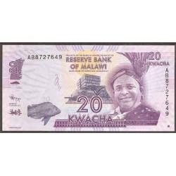 Malawi 20 Kwacha PK 57 (1-1-2.012) S/C
