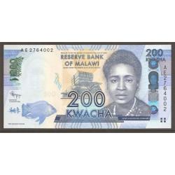 Malawi 200 Kwachas PK 60 (1-1-2.012) S/C