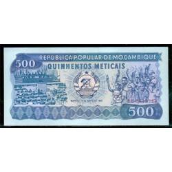 Mozambique 500 Meticais PK 131 (16-6-1983) S/C