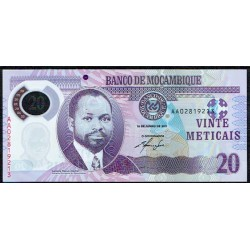 Mozambique 20 Meticais PK 149 (16-6-2.011) S/C