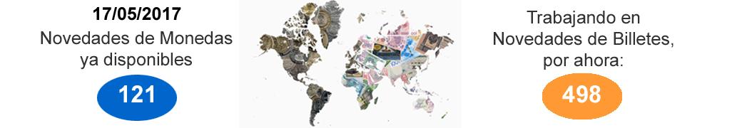 Novedades monedas y billetes
