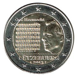 Luxembourg 2013 2 Euro National Himn UNC